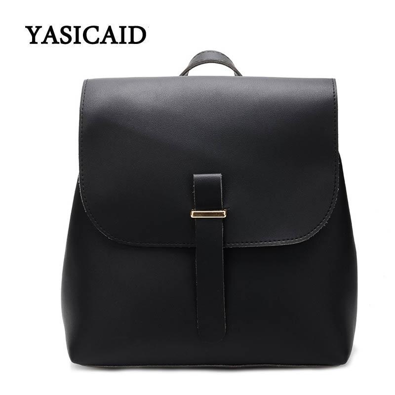 Fashion Women Backpacks Womens Pu Leather Backpacks Female School Shoulder Bags for Teenage Girls Back Pack Mochila Feminina