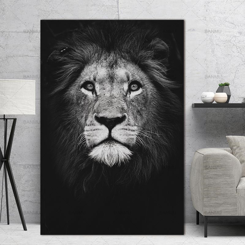 Home decor Wall art animal canvas painting  Wall Pictures print  for Living Room Art Decoration Pictures No Frame morden print mandala animal print tapestry wall art