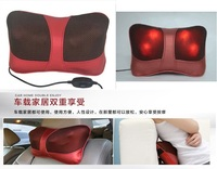 2016 Hot Infrared Heating Double Beauty Body Device Neck Massage Pillow Car Massager Cushion Seat Covers