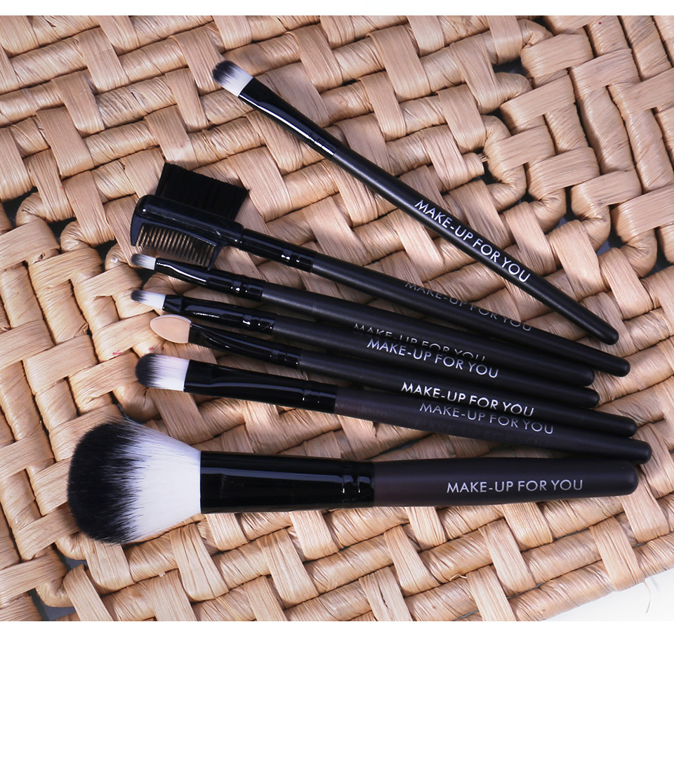 O.TWO.O Makeup Brushes Set 7pcs/lot Soft Synthetic Hair Blush Eyeshadow Lips Make Up Brush With Leather Case For Beginner Brush 23
