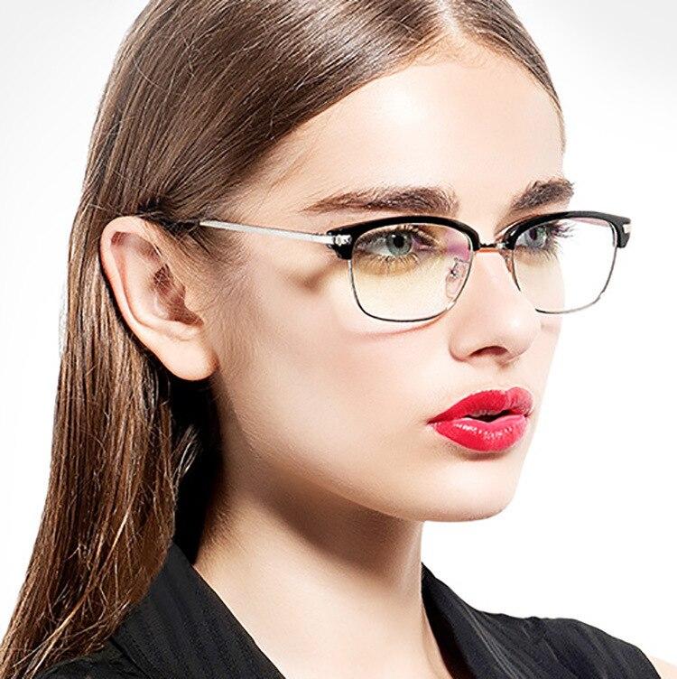 66274b6c6d70 SOZO TU Retro Superstar Style Alloy Half Eyewear Frame Men Women Optical  Eyeglasses Computer Glasses Spectacle Frame Oculos