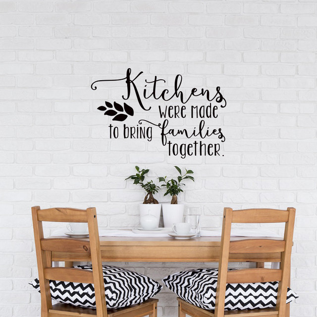 Quotes About Kitchens: Family Interior Wall Decal Kitchen Quotes Kitchens Were
