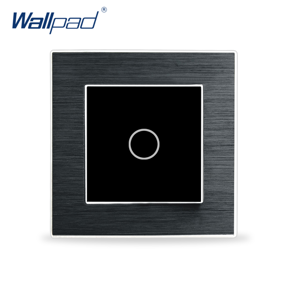 1 Gang 2 Way Light Touch Switch Wallpad Luxury Wall Switch Satin Metal Panel 2 Way Position Touch Switch for LED Strips цена и фото