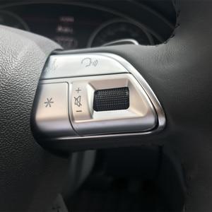 Image 1 - Car Styling Stuurwiel Knoppen Decoratie Cover Sticker Pailletten Voor Audi A3 8V A4 B8 B9 Q3 Q5 A1 a5 A6 A7 Interieur Decals