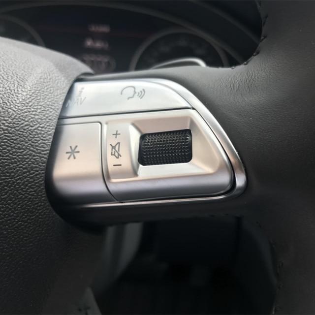 Car Styling Stuurwiel Knoppen Decoratie Cover Sticker Pailletten Voor Audi A3 8V A4 B8 B9 Q3 Q5 A1 a5 A6 A7 Interieur Decals