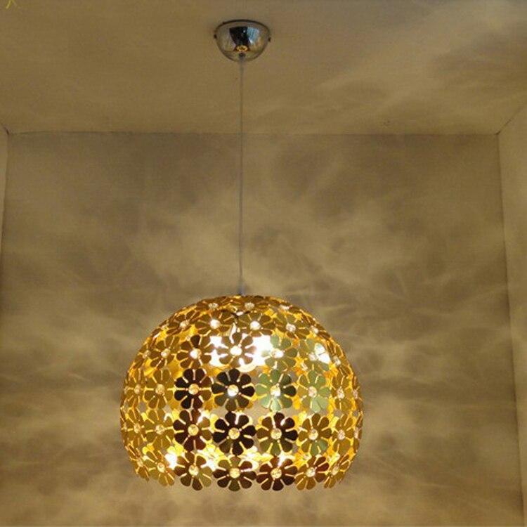 ФОТО Modern LED Crystal Flower Pendant Lamp Living room Hall Cafe Restaurant Balcony Pendant Hanging Lights Fixtures Droplight Decor