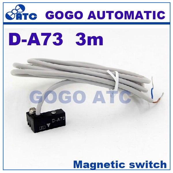 1.5M Air Cylinder D-A73 Magnetic Reed Sensor DC AC 5-240V Set of 2 Grey