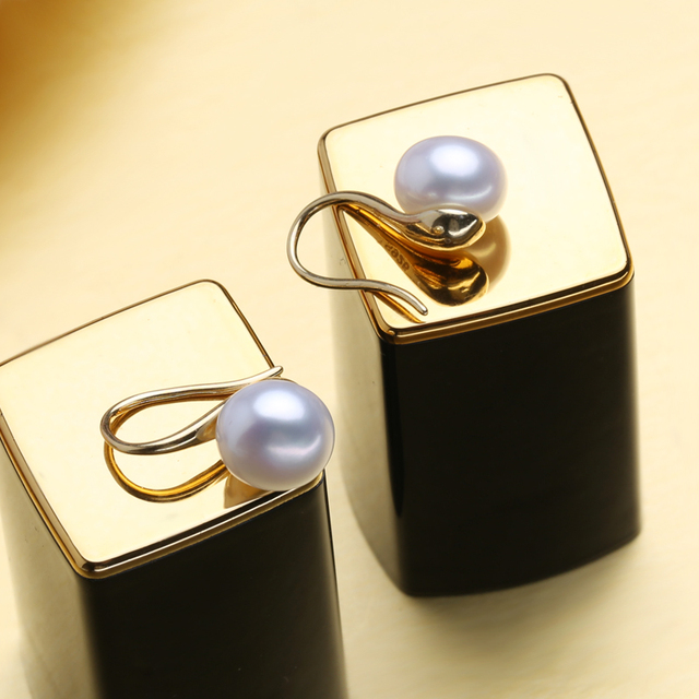 FENASY orecchini, orecchini di perle d'acqua dolce per le donne regalo, 925 orecchini dell'argento sterlina 2018, wedding & monili di aggancio
