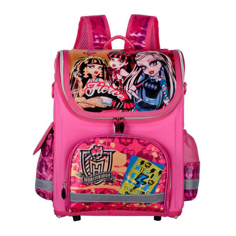 ФОТО New Children Backpack Snow Queen Primary Bookbag Butterfly Girls School Bags Orthopedic Princess Schoolbags Mochila Infantil