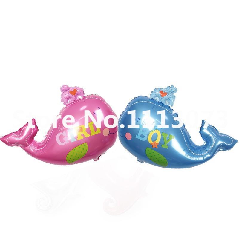 1pc Big Whale Balloons Baby Girl Baby Boy Happy Birthday
