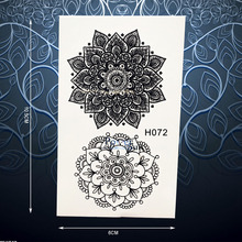 Exquisite Sun Flower Temporary Tattoo Sticker For Women Black Ink Henna Body Art Decals Waterproof Arm Neck Tattoo Stickers PH72