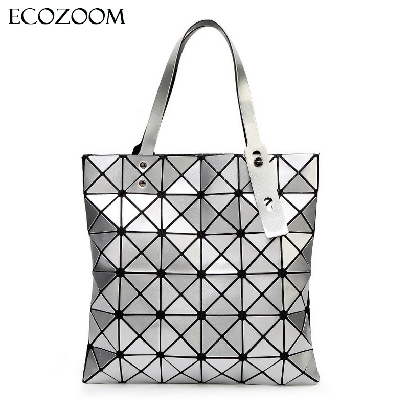 Female Fold Geometric Plaid Bag Women Fashion Casual Tote Top Handle Bag Shoulder Bags Pearl Bolsas Handbag
