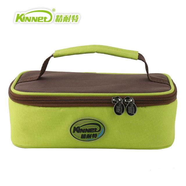 Kinnet crianças saco do almoço saco de almoço sacos de mão para as mulheres alumínio foil duplas térmica insulina refrigerador saco lancheira bloco de gelo Verde