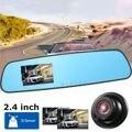 A Estrenar HD 720 P 1280x720 2.4 Pulgadas de Coches Monitor del Espejo DVR Grabador de Vídeo Cámara de la Rociada Leva Trasera vista