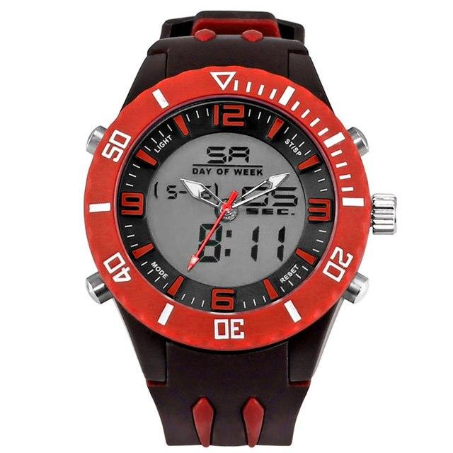 Diving Swimming Waches Men Sport Dual Display Wristwatch 30M Waterproof Sports Male Clock relogio masculino Casual Watch WS1043