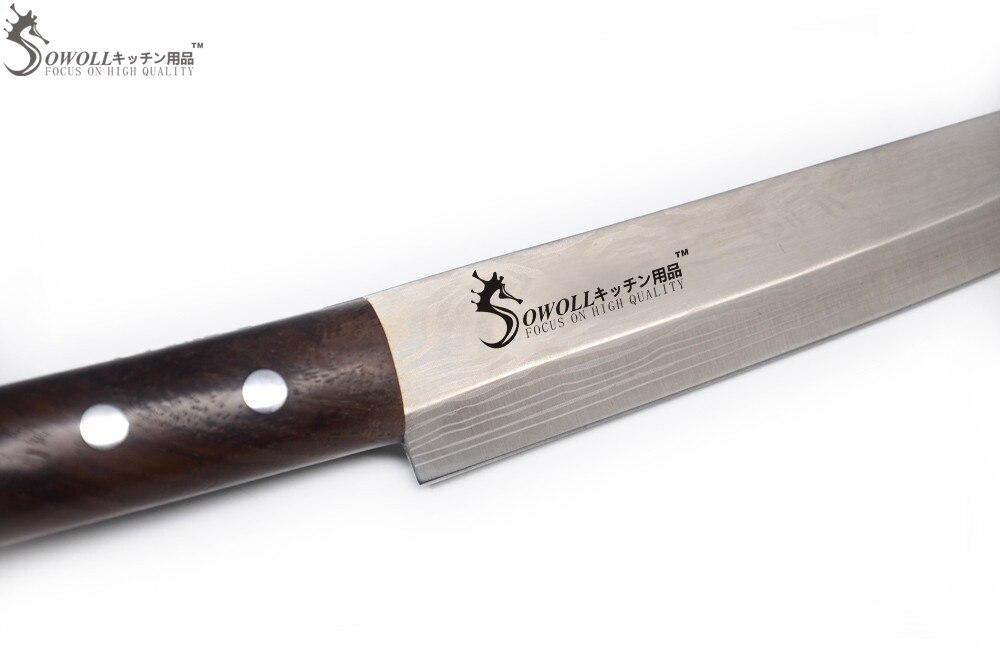 8 дюймдік Sashimi Knife Sowell бренді 5Cr15 - Тағамдар, тамақтану және бар - фото 4