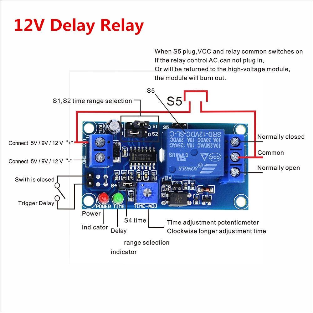 קנו חסכון חשמל ואספקה | Smart Electronics 1pcs Delay Relay