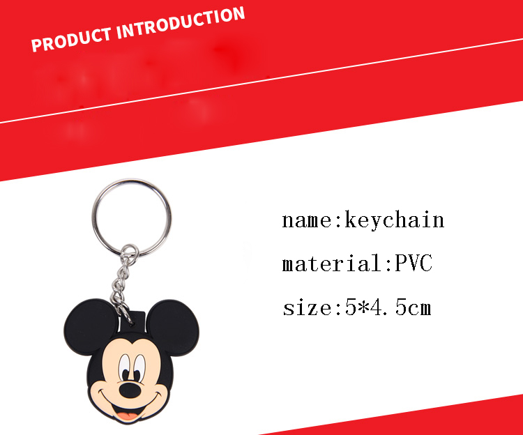 New pop Cartoon PVC Keychain Mickey Minnie Kids Keychain Key Holder Bag Pendant Charms Fans Gift Key wallet accessories (19)