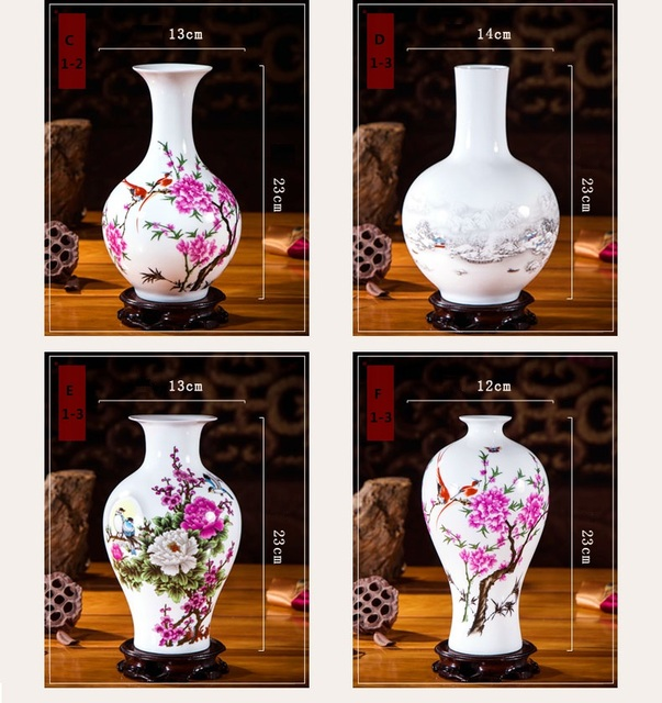 OUSSIRRO Jingdezhen Ceramic Vases Pottery Decoration Living Room Flower Arrangement Modern Home Simple TV Cabinet  Ceramic Gift 5