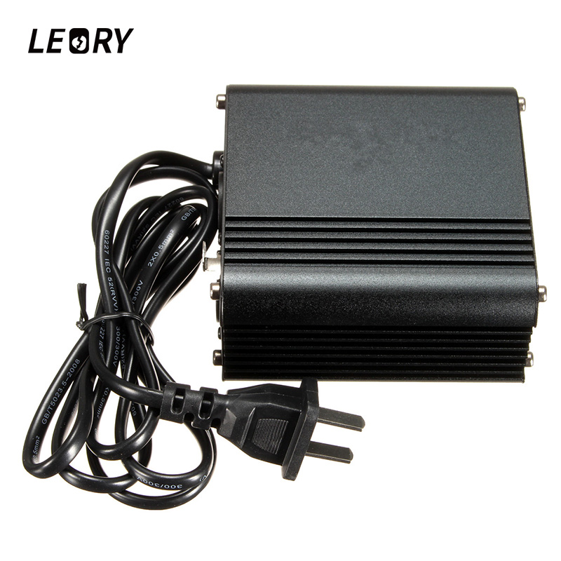 LEORY 48V US Phantom Power Supply With Adapter Noise Canceling For Condenser Microphone Music Recording Equipment