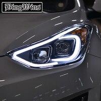 2 Ps Head Lamp For Hyundai ELANTRA 2012 2017 Headlights LED elantra Headlight DRL High Low Bi Xenon Lens Low Beam With HID Front