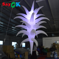 2.5mH Special Inflatable LED Decoration Hanging Lighting with Color Changing Bulb for Party Wedding Events