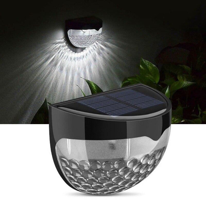 6 LED Solar Garden Wireless Light Weatherproof Lamp Outdoor Sensor Auto On At Dusk Auto Off At Dawn Luz Solar Led Para Exterior