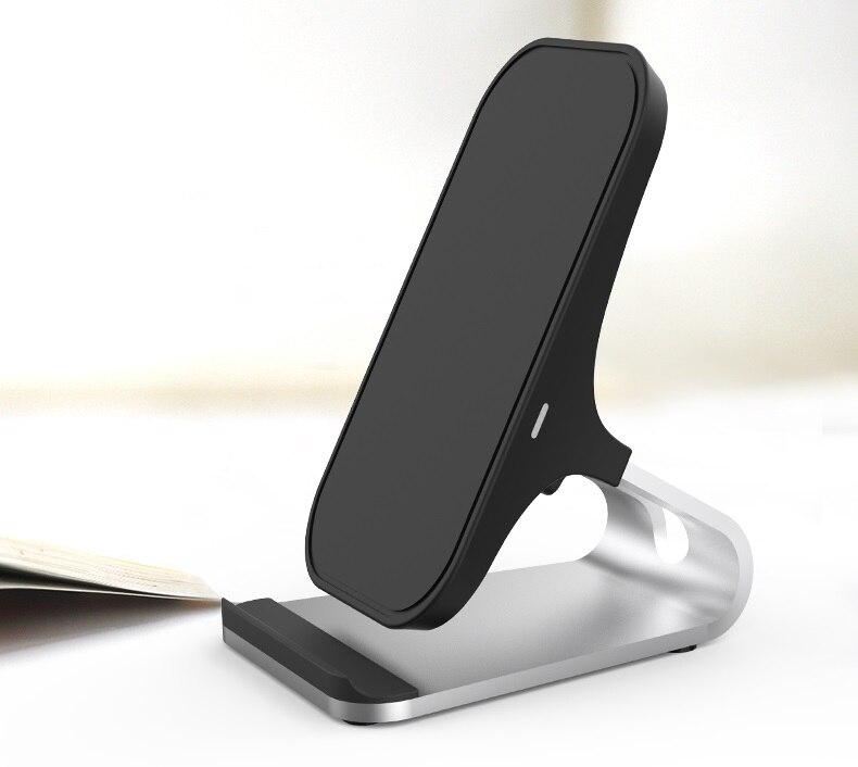 Lantro JS cargador inalámbrico Qi rápido soporte cargador de teléfono de escritorio con un metro tipo C a Cable USB sin CA adaptador