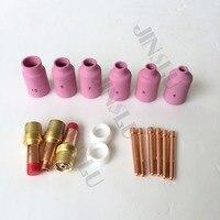 TIG Welding Torch WP17 18 26 Tig Gas Lens Insulator Collet Ceramics Nozzle 17pcs