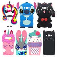 Funda de unicornio para Samsung Galaxy J3 DE 2016 Funda de silicona de dibujos animados para Coque Samsung J3 2016 fundas de teléfono 3D linda chica J3 Funda