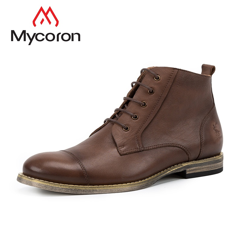 MYCORON 2018 New Keep Warm Winter Shoes Men High Quality Leather Casual Shoes Working Fashion Men Boots Scarpe Uomo Invernali женские кеды golden goose shoes 2015 ggdb uomo scarpe scollate