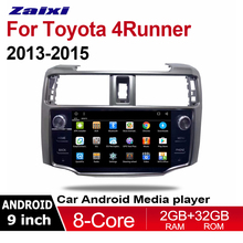 купить ZaiXi 9 Android 8.1 Octa Core car radio for Toyota 4Runner 2013~2015 multimedia Player Stereo Radio Audio Navi GPS Navigation дешево