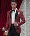 CUSTOM MADE HAUTE COUTURE,BESPOKE RED TARTAN MEN SUITS,TAILORED NEW WEDDING TUXEDOS FOR MEN (Jacket+Pants+Tie+Pocket Square
