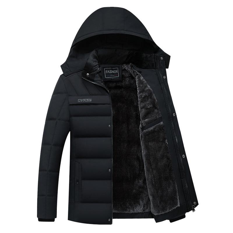 Winter Jacket Men Thicken Warm Male   Parkas   New Fashion Hooded Fleece Windproof Breathable Coats Man's Jackets Outwear