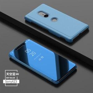 Image 5 - Ayna akıllı görünüm Flip Case Sony Xperia XZ3 Clear HD ekran tam kapak Xperia XZ3 XZ 3 Anti anti vurmak telefon kılıfları Coque çapa