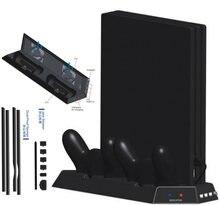Вертикальная подставка для ps4 pro охлаждающий вентилятор двойной