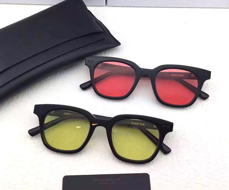 Hot bibang Korea Gentle SOUTHSIDE sunglasses for men women computer optical frame pink lens with original