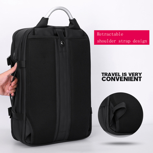 "Image 3 - Fenruien 남자 확장 가능한 배낭 대용량 다기능 15.6 ""노트북 배낭 방수 USB 충전 여행 배낭"