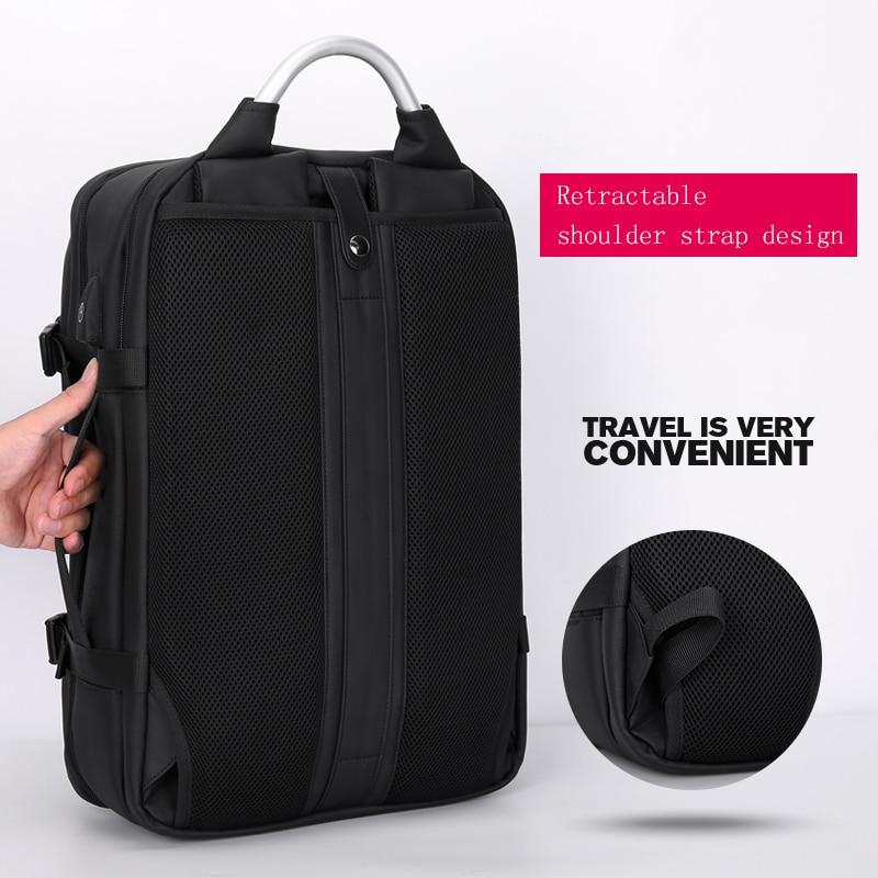 Frn 노트북 배낭 15.6 인치 남자 여행 가방 2019 다기능 배낭 방수 옥스포드 블랙 컴퓨터 배낭 남자에 대 한-에서백팩부터 수화물 & 가방 의  그룹 3