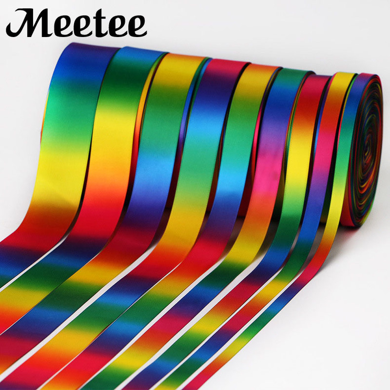 10Yards 100% Polyester Satin Ribbon Gift Wrapping Printed Ruban DIY Hairbows New Year Party Decor Accessories KY139