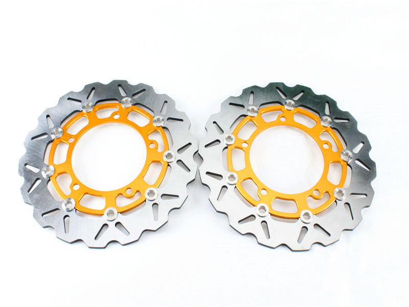 1 Set Motorcycle Front Brake Disc Rotor For Y A M A H A FAZER 8 ABS / XT1200Z Tenere ABS 2010-2015 YZF R1 2007-2011 08 09 10 motorcycle rear brake disc rotor for y a m a h a xjr1300 5ea1 5ea7 1998 1999 fjr1300 n p r ar s as 2001 2010 02 03 04 05 06 07