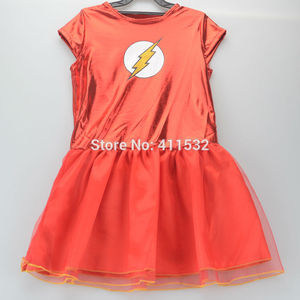 Image 3 - Girls the flash superhero cosplay costumes fantasia vestido halloween fancy Tutu dress Kids carnival party Outfit nl135