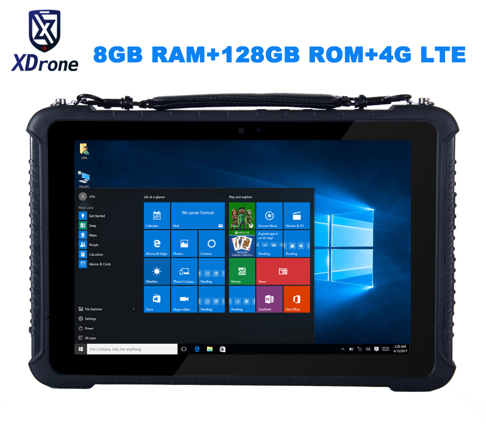 Original K16T Rugged Windows Diagnostic Tablet PC Waterproof Industrial Computer M3-6Y30 8GB RAM 128GB ROM 10.1