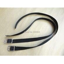 Черные нейлоновые английские ремни с пряжкой из нержавеющей стали