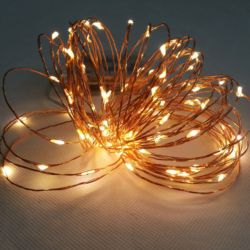 10PCS Copper Wire LED string lights Battery Powered 2m 20leds LED ...