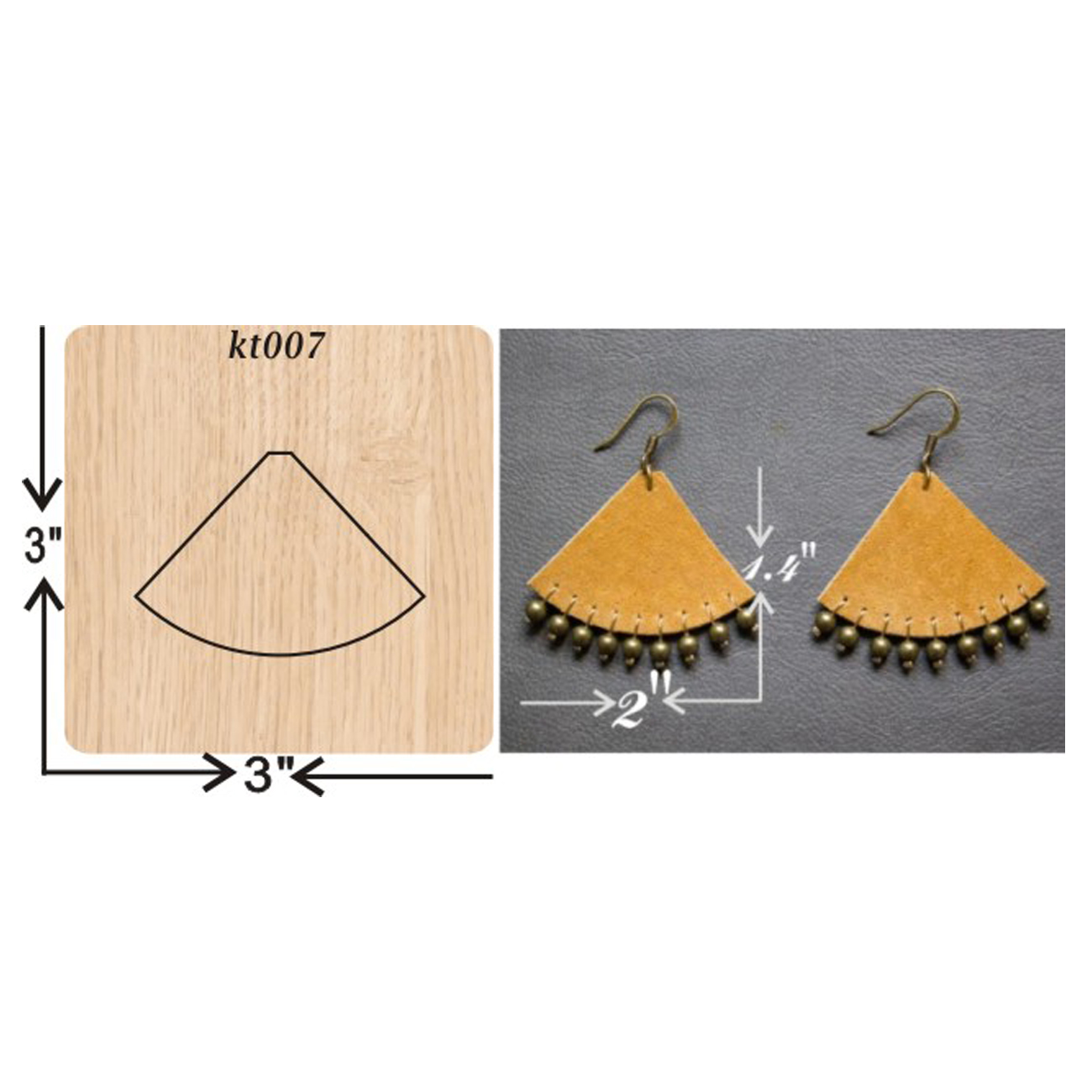 Maple leaf earrings cutting dies 2019 new die cut wooden dies Suitable for common die cutting machines on the market in Cutting Dies from Home Garden
