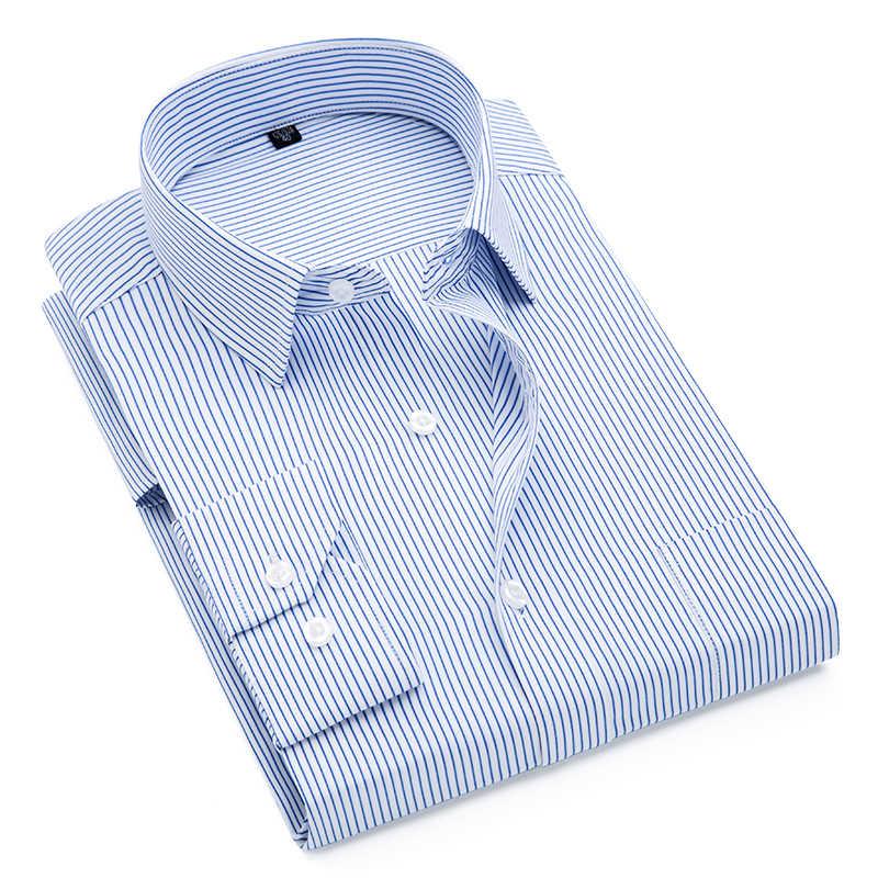 2019 ブランド新メンズシャツ男性ストライピング男性のファッションカジュアル長袖ビジネスフォーマルなシャツフォーマルカミーサ社会