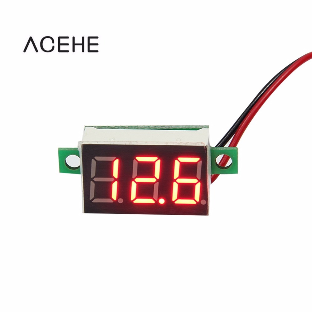 1pcs Red LED Panel Voltage Meter 3-Digital Adjustment Voltmeter 3-Digital Adjustment Voltmeter 200ms/time