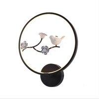 Творческих Hand Made Китайский Лотос сливы круглые металлические светодио дный бра для фойе номер проход отель крыльцо лампа Dia 30 см 1717