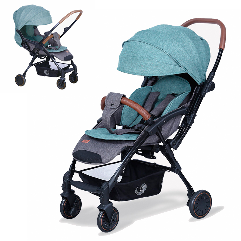 Poussette bébé Portable landau de voyage poussette légère visage à visage